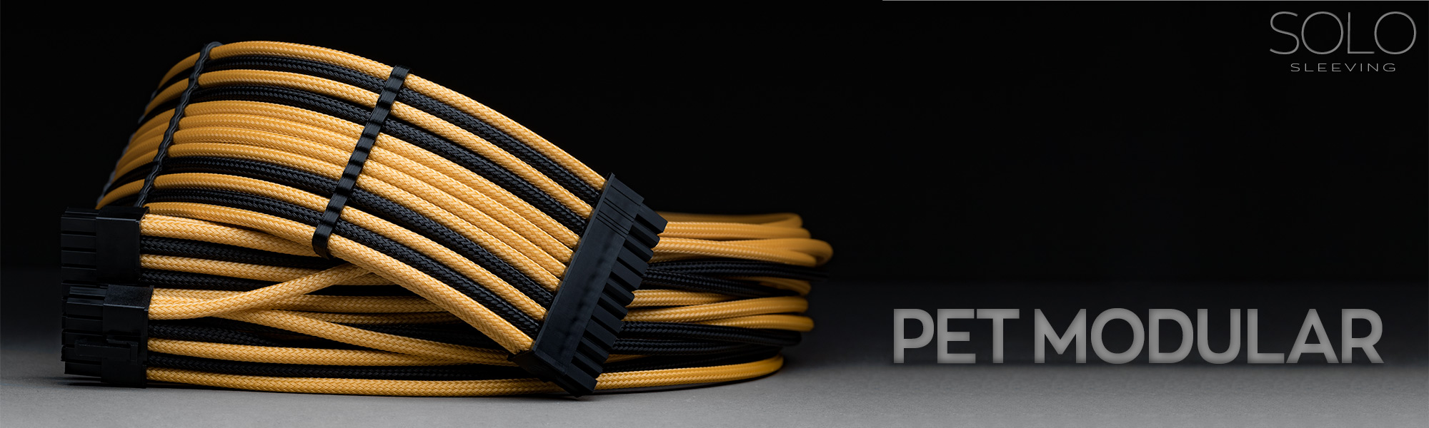 Custom sleeved power supply cables. Design your own PSU cables in any color pattern.