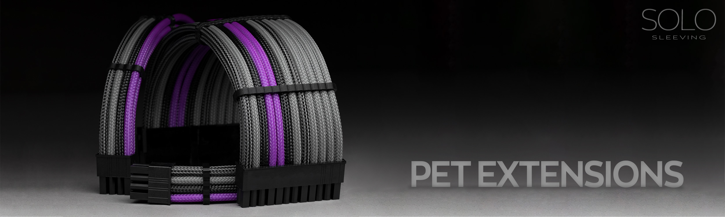 Design your own PET sleeved extension cables. Custom colors and lengths.
