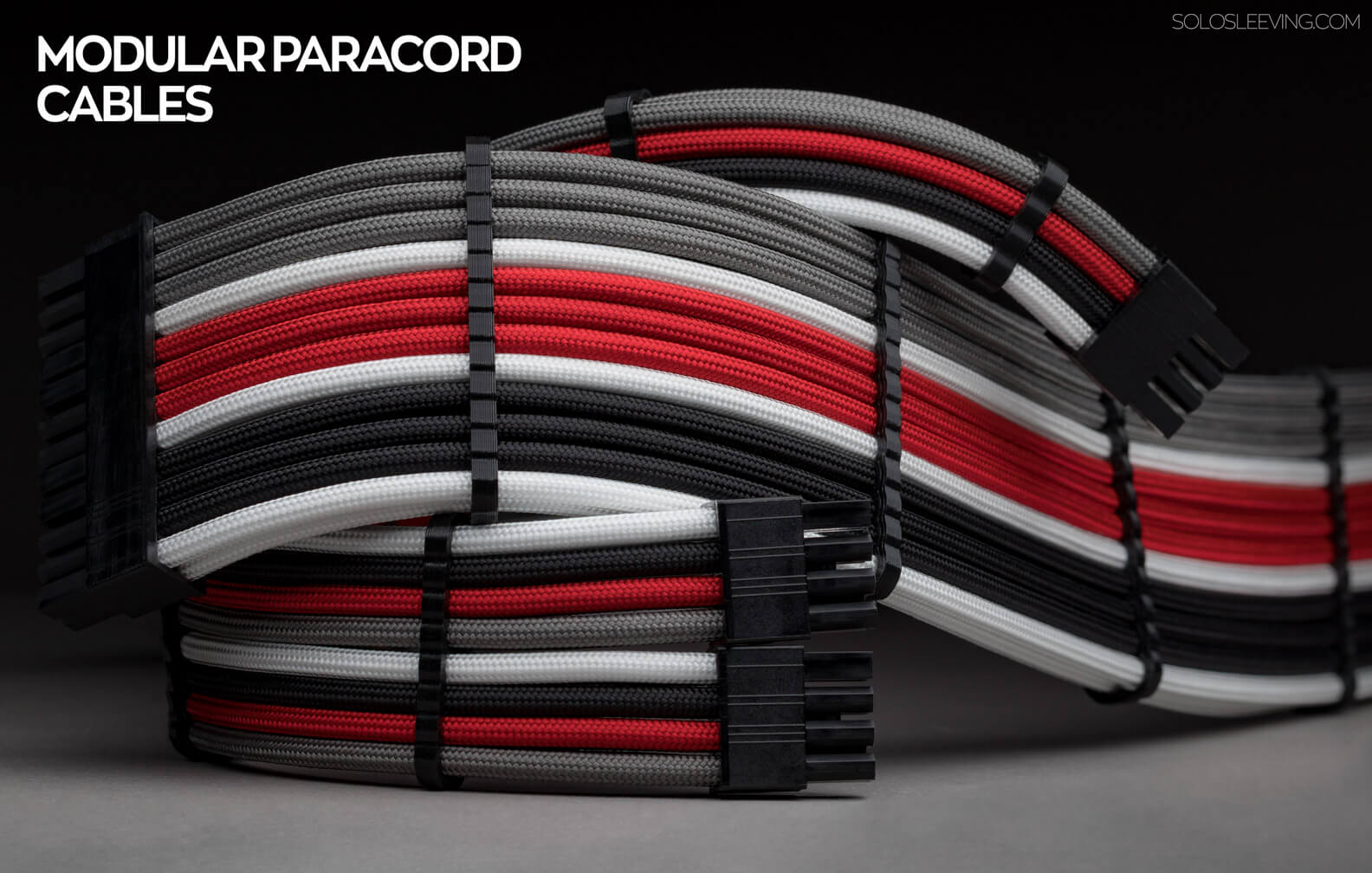 Shop premium paracord PSU cables. Handcrafted in the USA, and fully customizable to any color pattern.