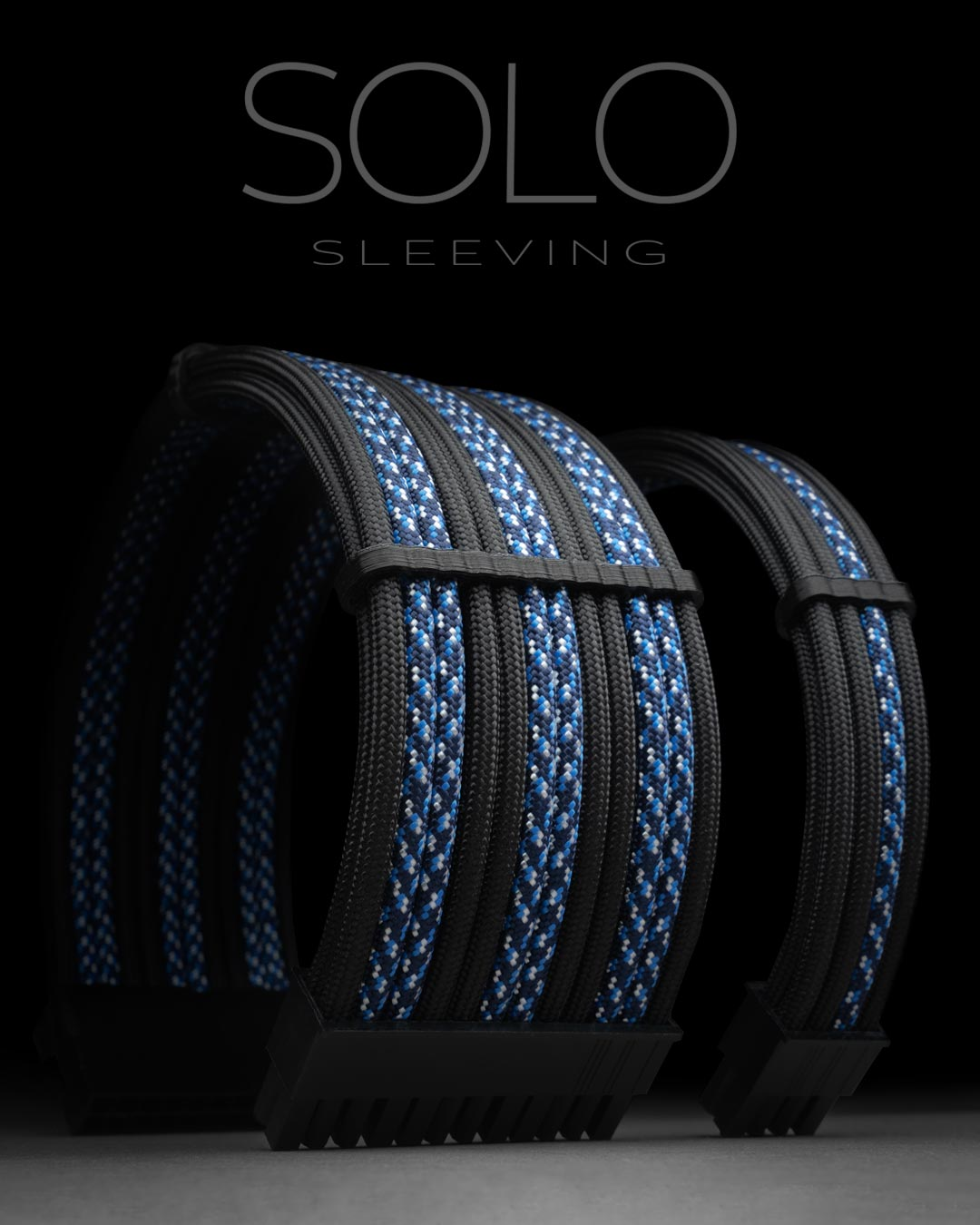 Blue Camo and Black Paracord Extension Cables