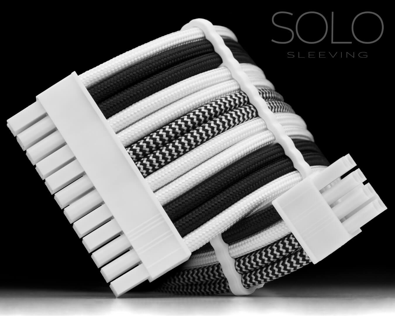 Black and White Designed PSU Cables