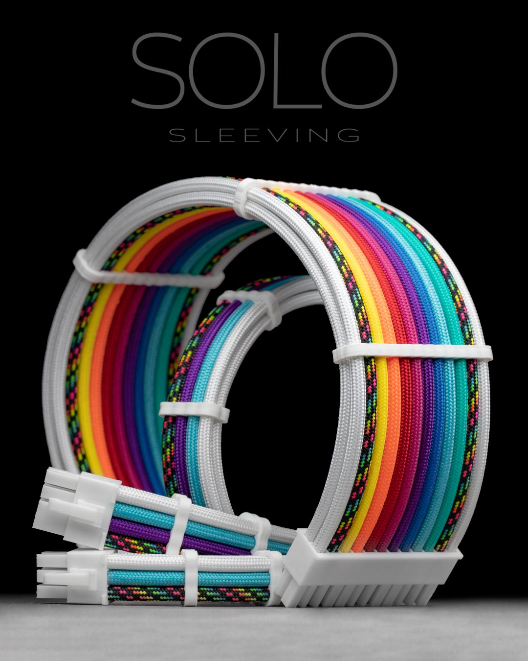 Rainbow Sleeved PC Cables
