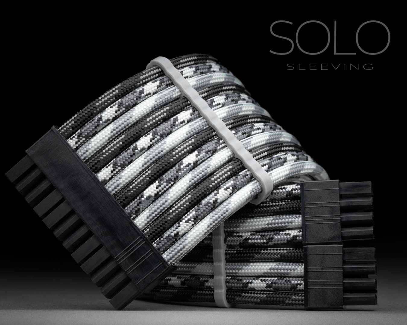 Black and White Themed PSU Cables